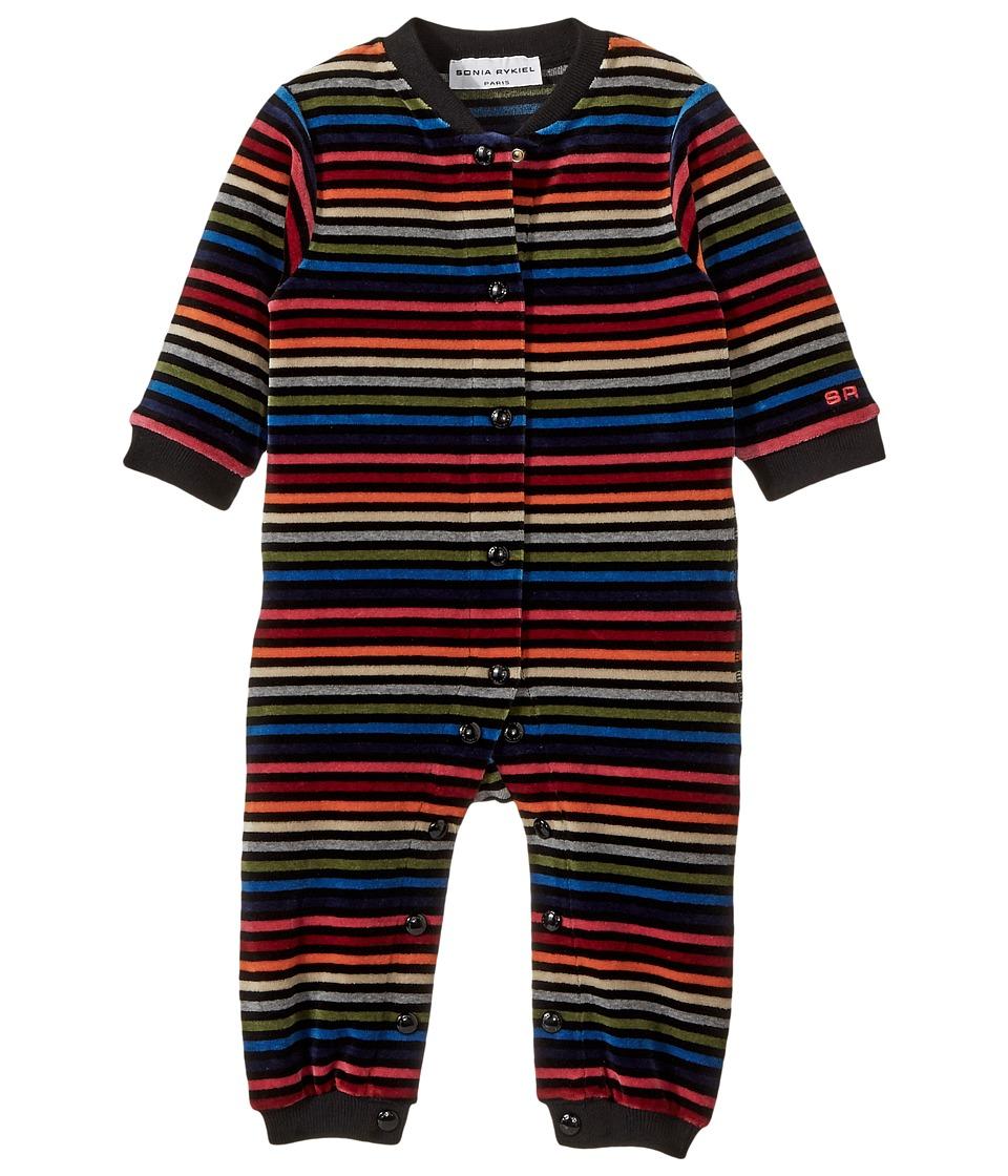Sonia Rykiel Kids - Multi-Striped Velvet Romper
