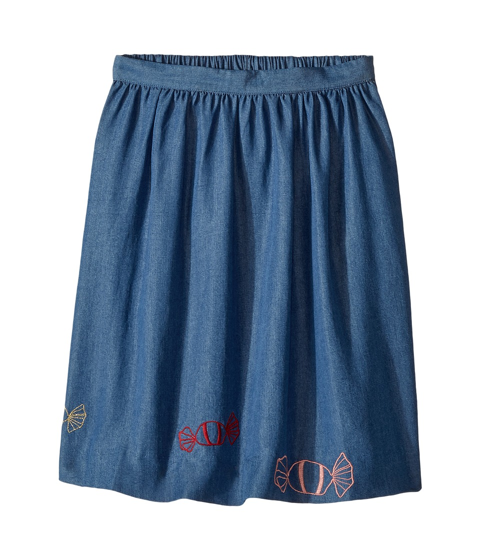 Sonia Rykiel Kids - Long Chambray Skirt w/ Embroided Candies