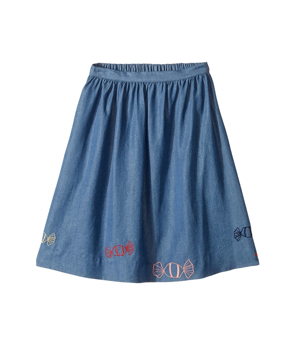 Sonia Rykiel Kids - Long Chambray Skirt w/ Embroidered Candies