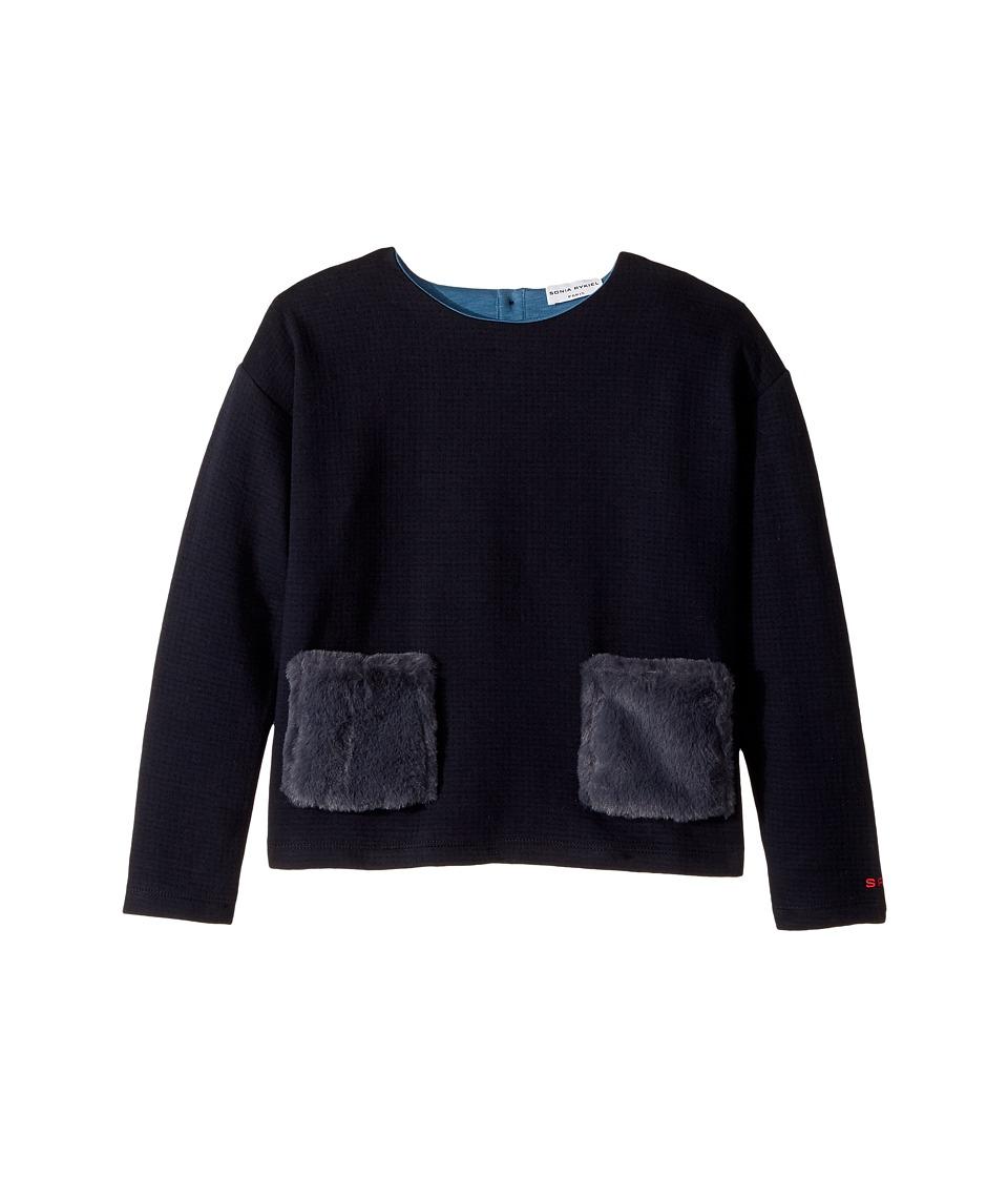 Sonia Rykiel Kids - Long Sleeve Fur Pocket Top