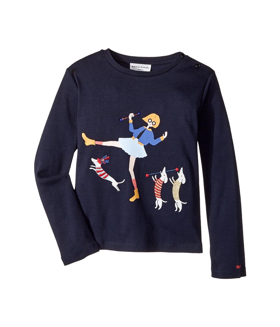 Sonia Rykiel Kids - Long Sleeve T-Shirt w/ Rykiel Girl Dogs