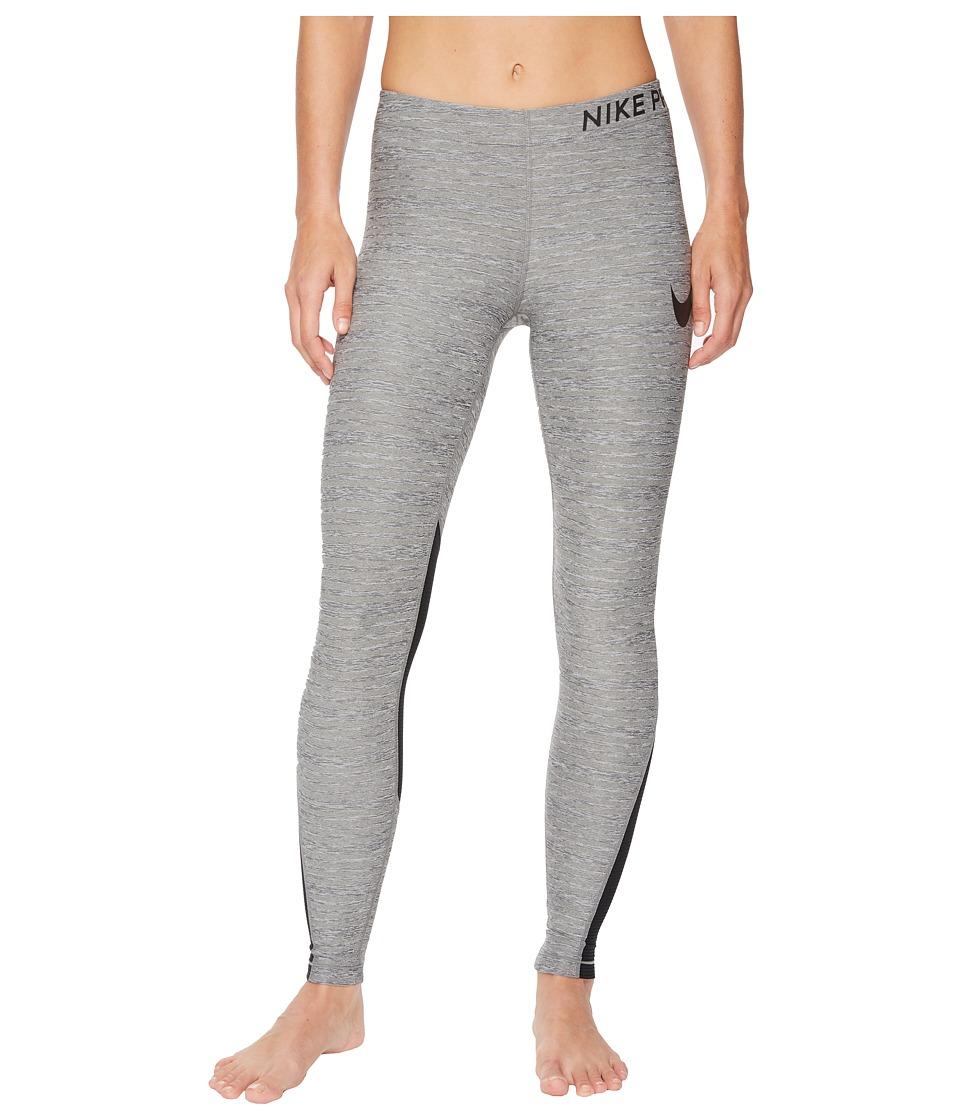Nike Pro Heather Training Tight (Carbon Heather/Black) Women