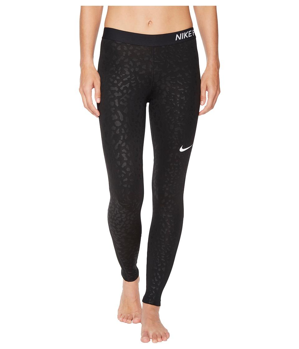 Nike Pro Spotted Cat Training Tight (Black/Black/White) Women