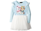 Rock Your Baby - Lulu & Lola Long Sleeve Circus Dress (Toddler/Little Kids/Big Kids)