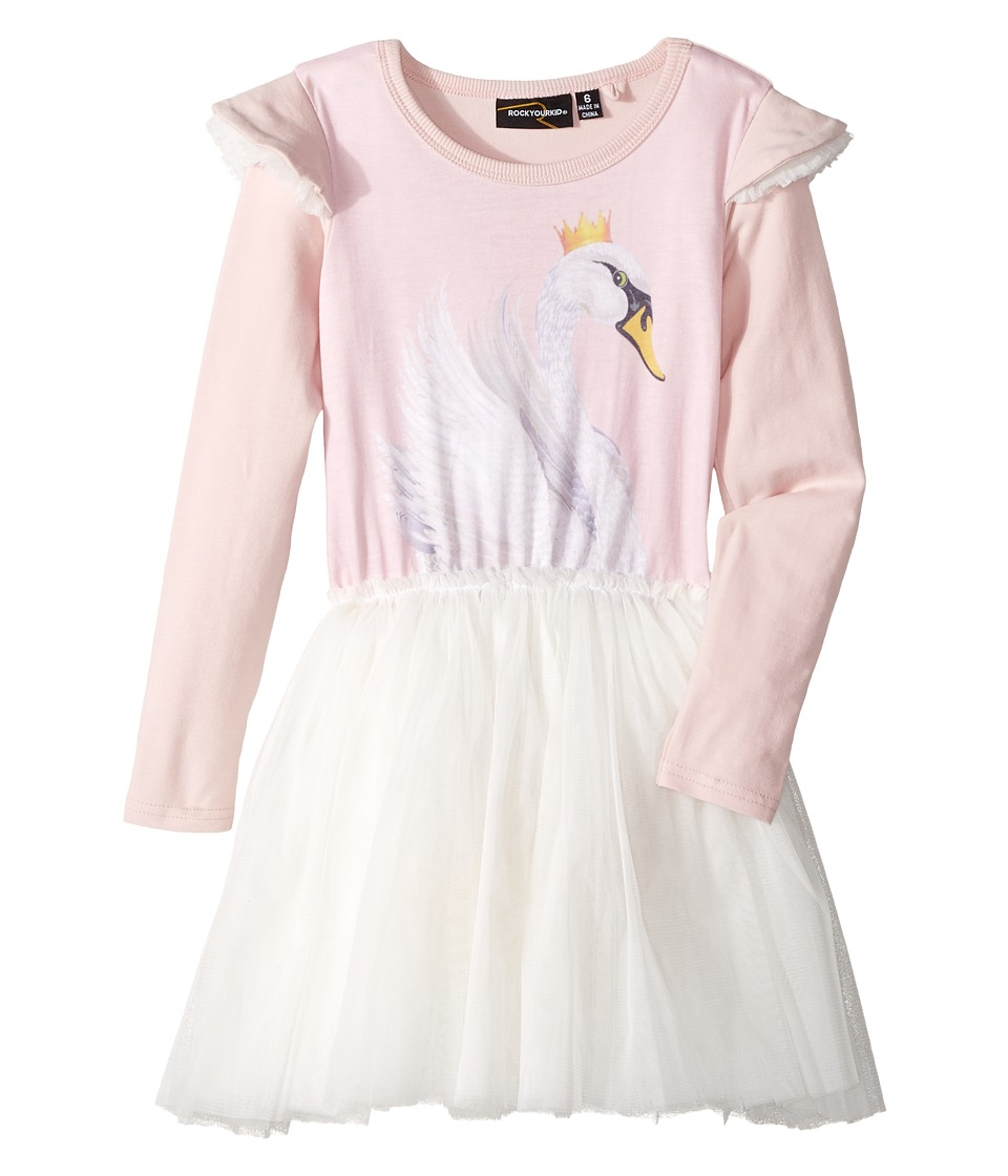 Rock Your Baby - Swan Lake Long Sleeve Circus Dress (Toddler/Little Kids/Big Kids) (Pink) Girls Dress