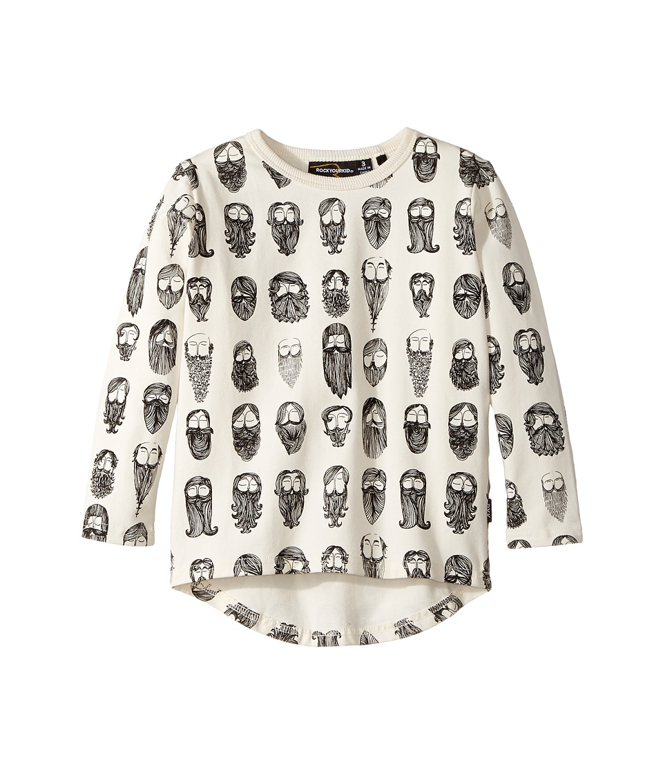 Rock Your Baby - Billyburg Long Sleeve T-Shirt (Toddler/Little Kids/Big Kids) (White) Boy's T Shirt