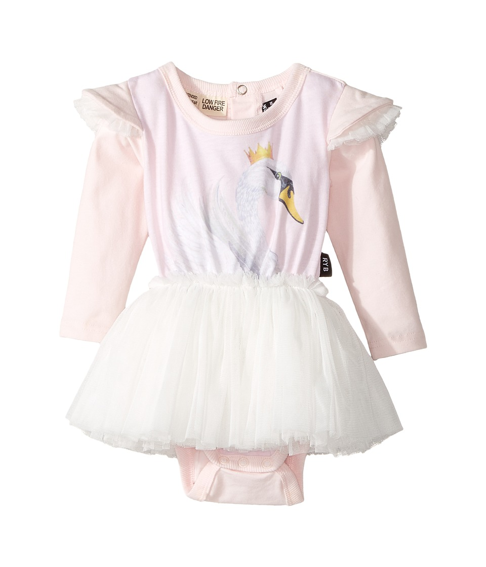 Rock Your Baby - Swan Lake Long Sleeve Circus Dress (Infant) (Light Pink) Girls Dress