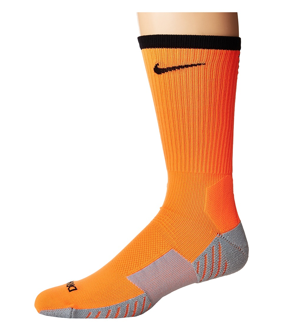 Nike - Stadium Football Crew (Total Orange/Black) Crew Cut Socks Shoes