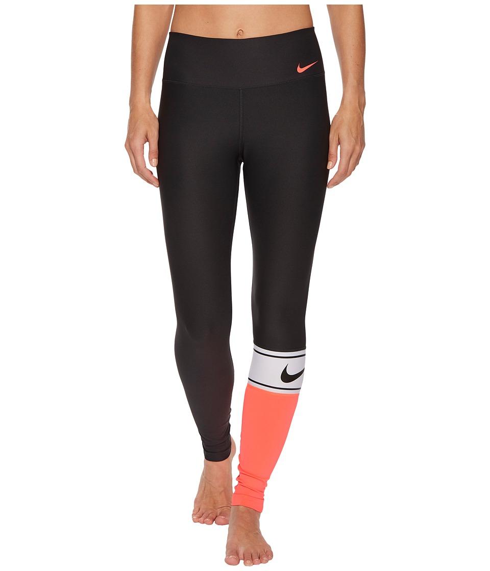 Nike Power Color Block Training Tight (Anthracite/White/Black/Sea Coral) Women