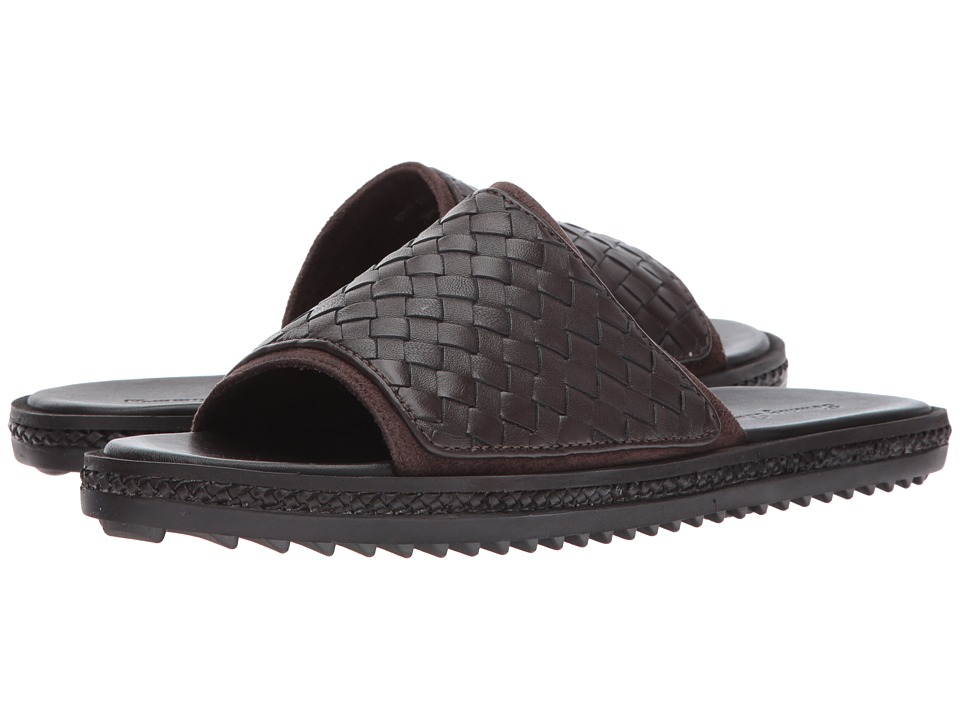 Tommy Bahama - Shore Crest Slide (Dark Brown Woven) Men's Sandals