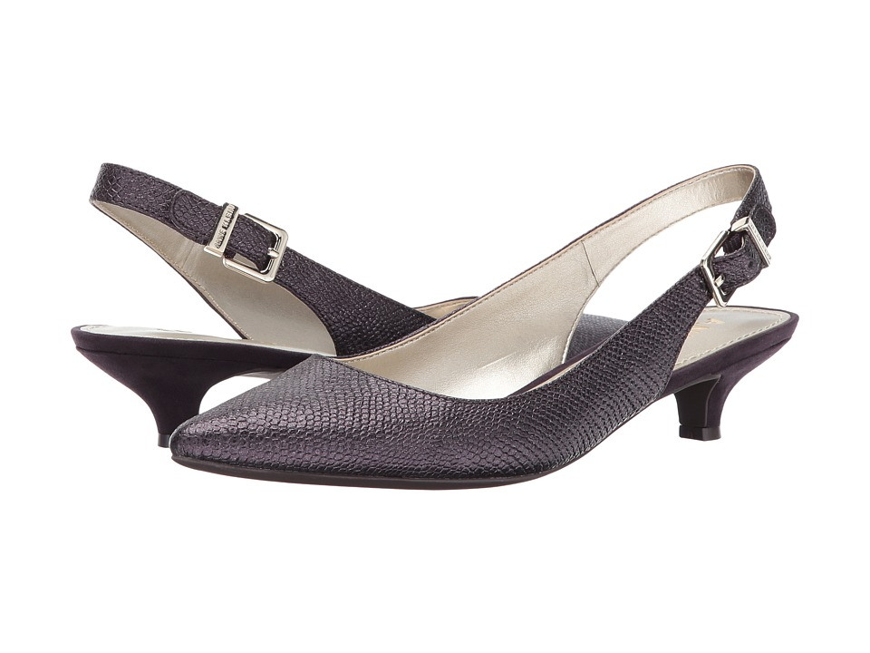 Anne Klein - Expert (Metallic Purple Reptile) Womens 1-2 inch heel Shoes