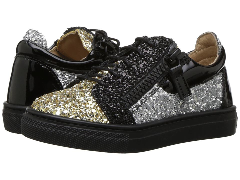 Giuseppe Zanotti Kids Glitter Sneaker (Toddler) (Gold) Girls Shoes