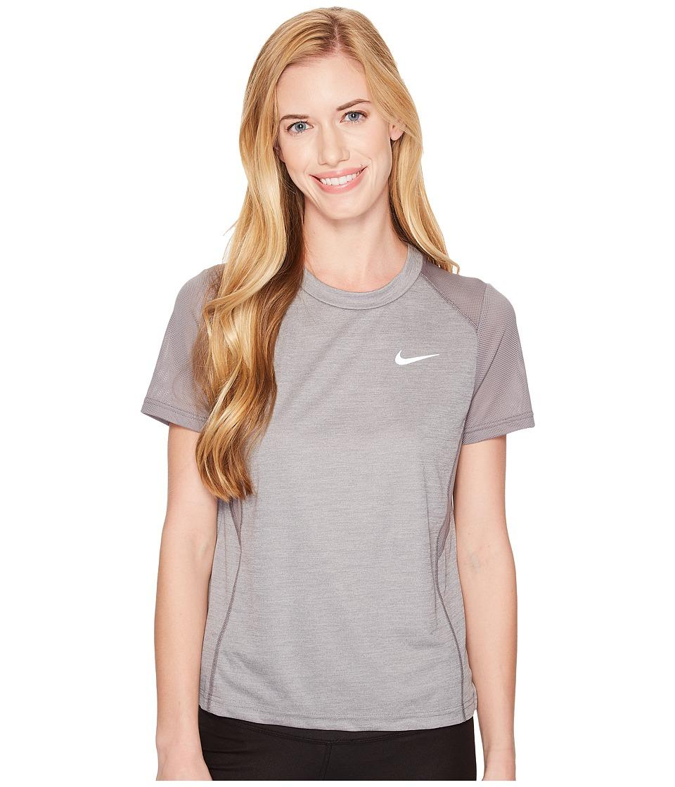 Nike Dry Miler Short-Sleeve Running Top (Gunsmoke/Heather...