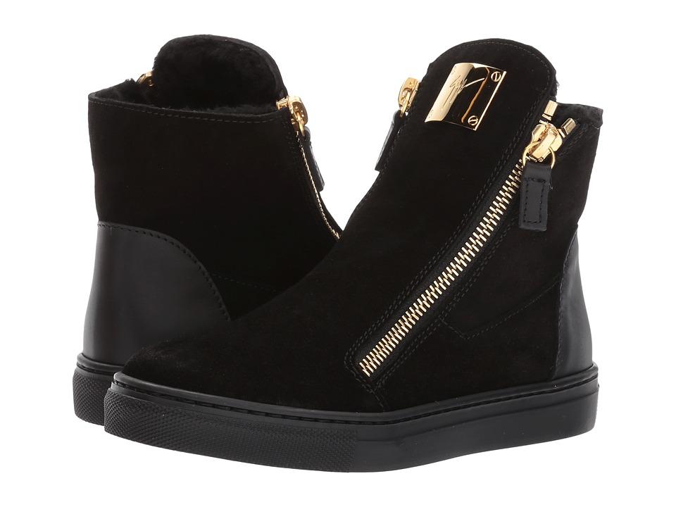 Giuseppe Zanotti Kids - Larry Jr. Velour Sneaker