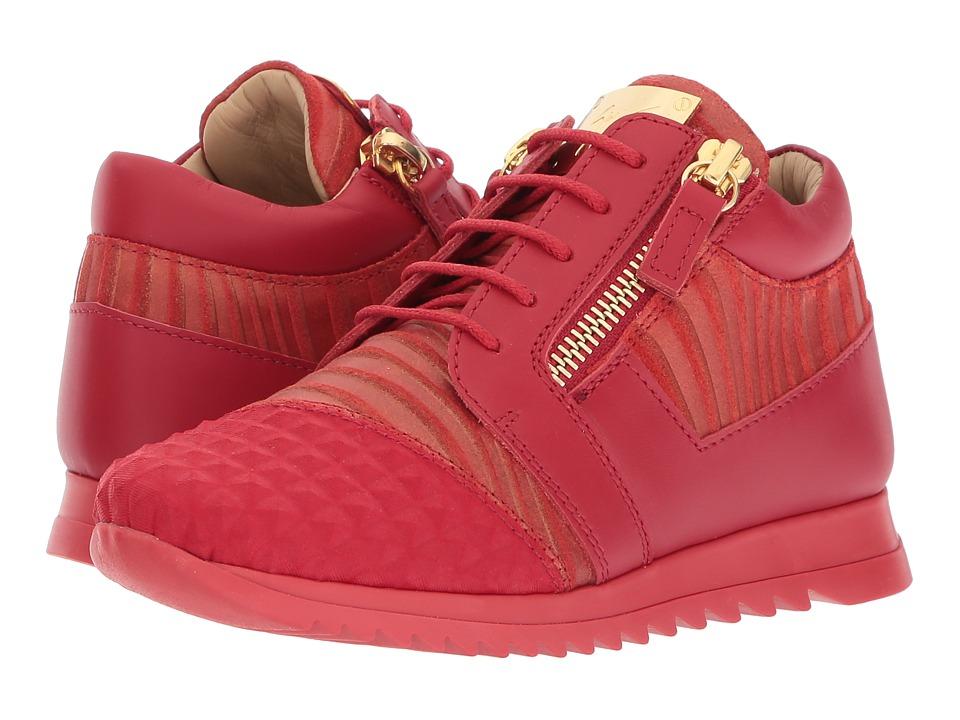 Giuseppe Zanotti Kids Stud Sneaker (Toddler/Little Kid) (Red) Kids Shoes