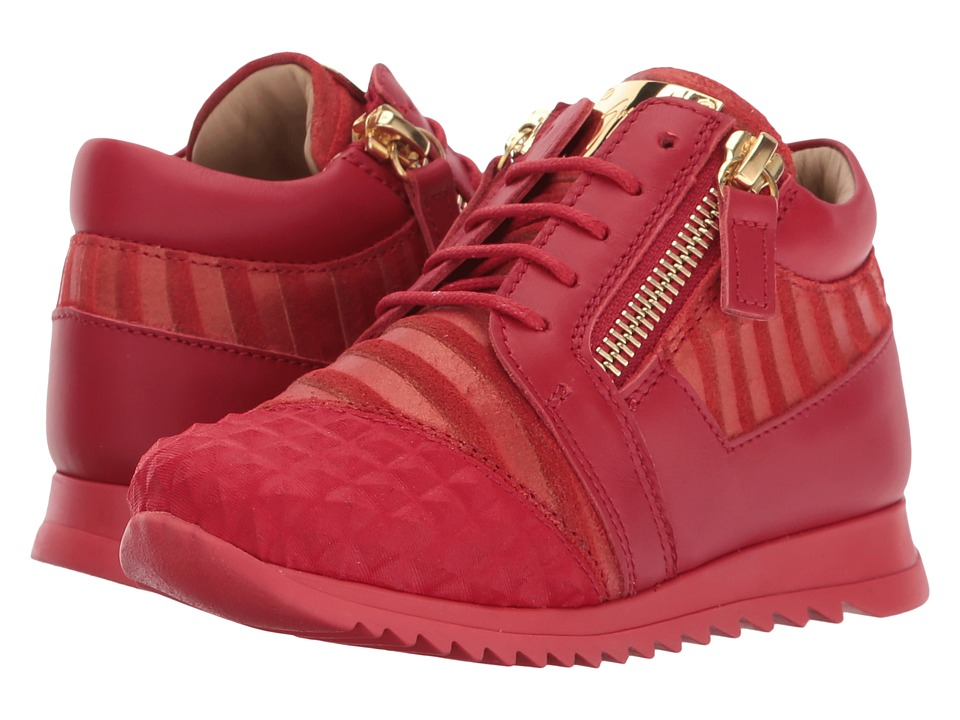 Giuseppe Zanotti Kids - Stud Sneaker (Toddler) (Red) Kids Shoes