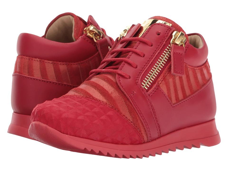 Giuseppe Zanotti Kids Stud Sneaker (Toddler) (Red) Kids Shoes