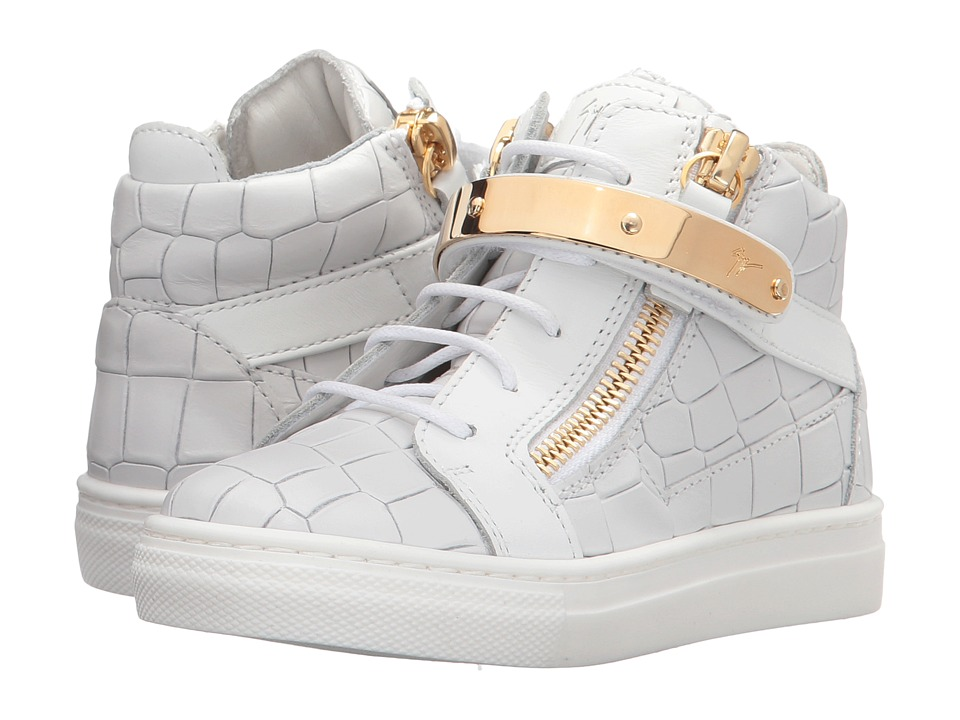 Giuseppe Zanotti Kids Aftering Sneaker (Toddler/Little Kid) (White) Kids Shoes