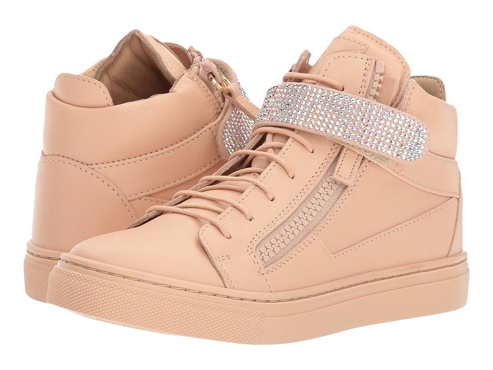 Giuseppe Zanotti Kids Dolly High-Top Sneaker (Toddler/Little Kid) (Shell) Girls Shoes