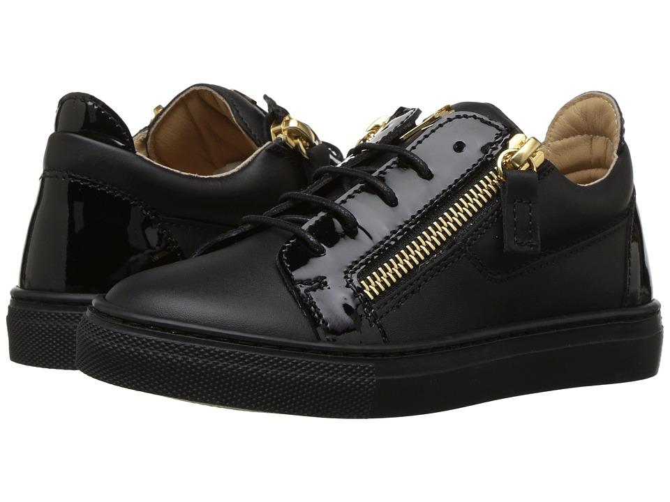 Giuseppe Zanotti Kids Nirel Sneaker (Toddler/Little Kid) (Black) Kids Shoes