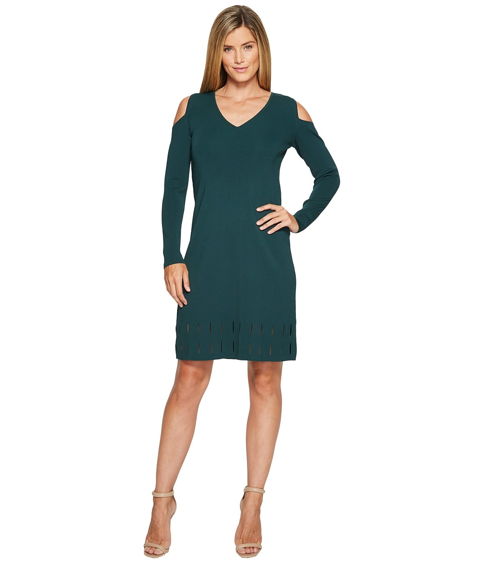 NIC+ZOE Peeking Out Dress (Dark Emerald) Women