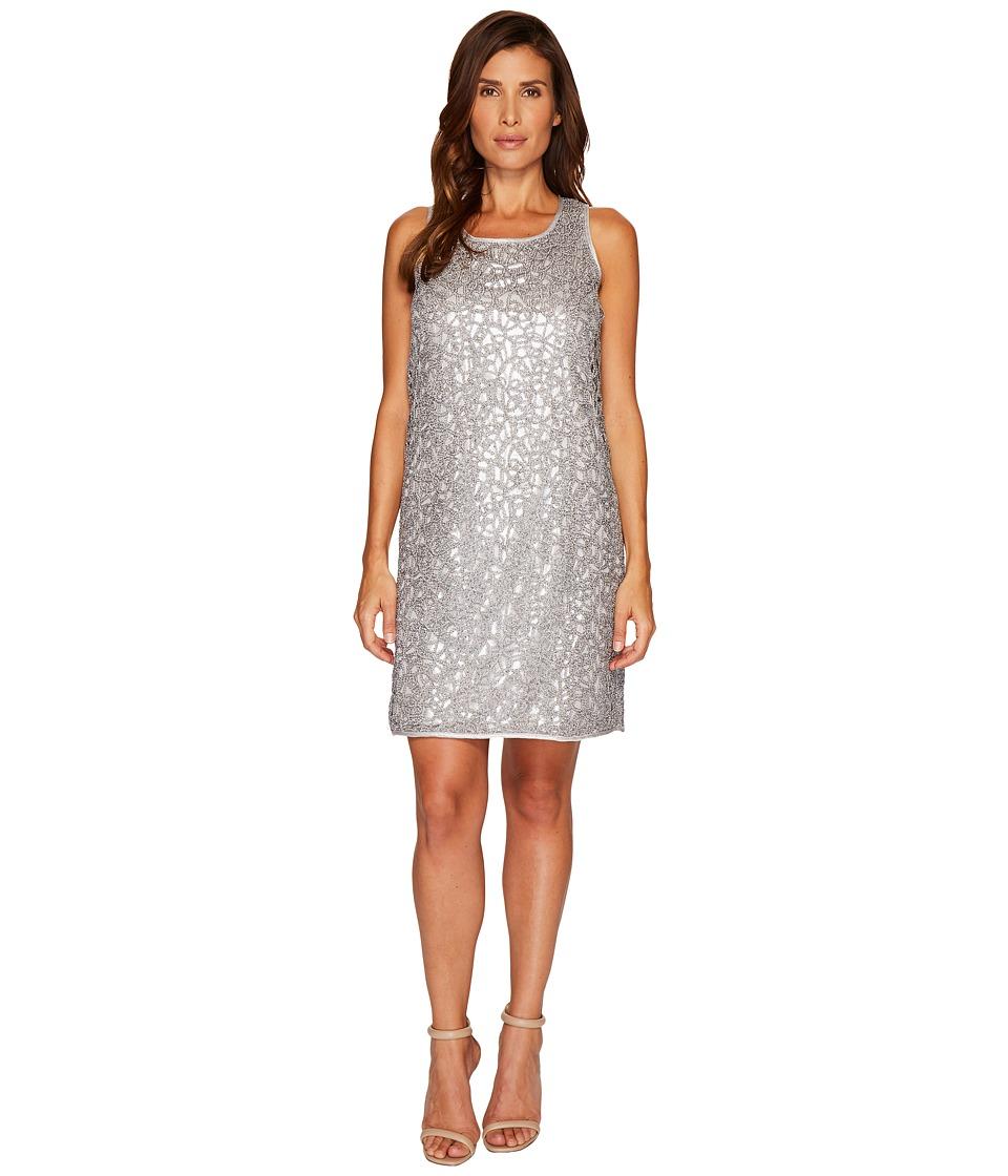 NIC+ZOE Metallic Lace Dress (Silver) Women