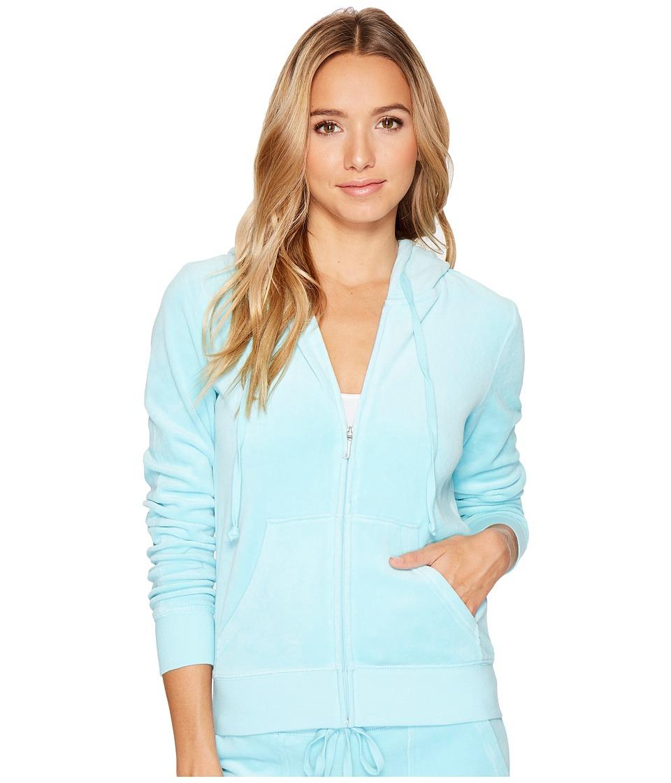 Juicy Couture Robertson Velour Jacket (Angel Blue) Women