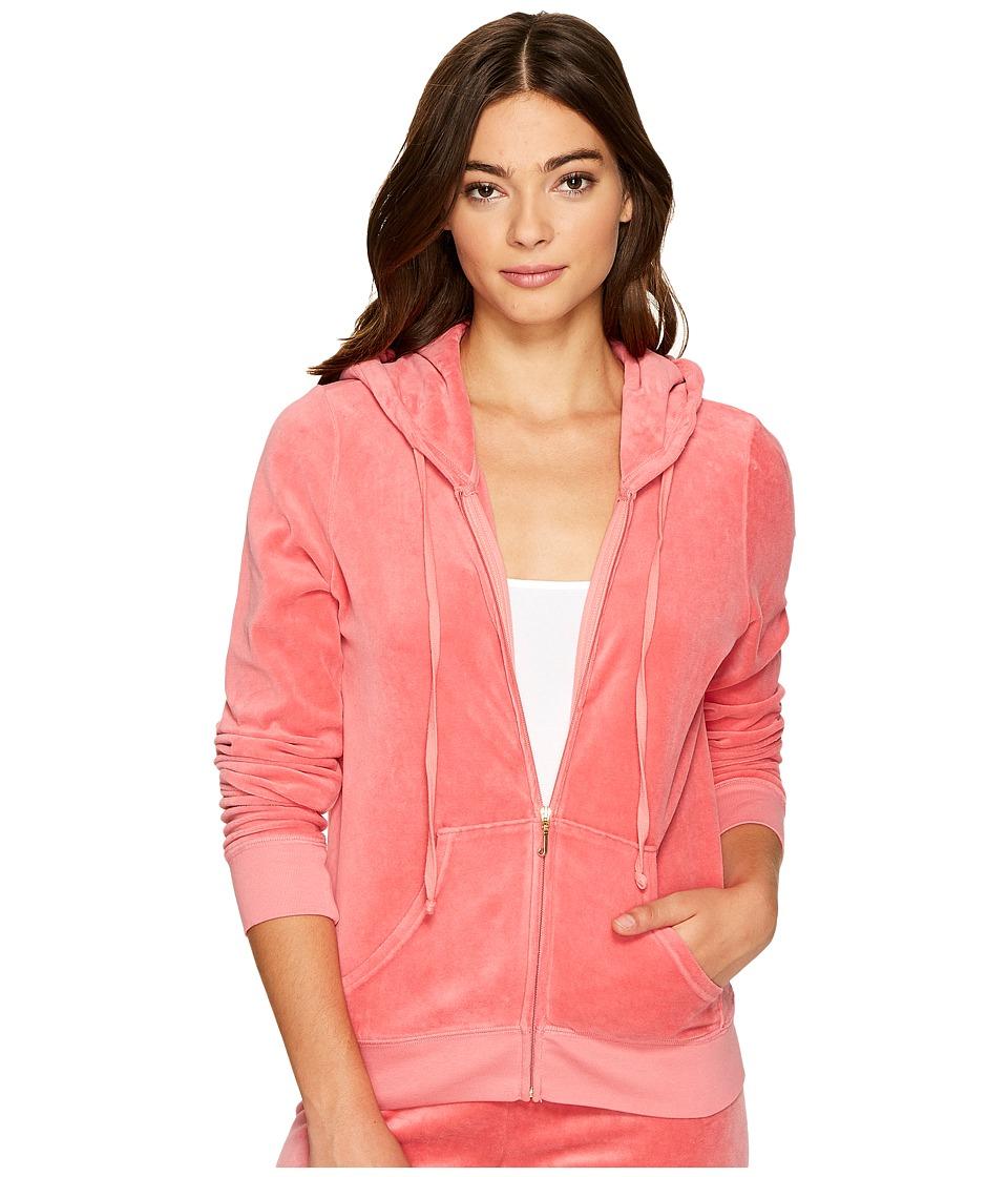 Juicy Couture Robertson Velour Jacket (Frozen Strawberry) Women