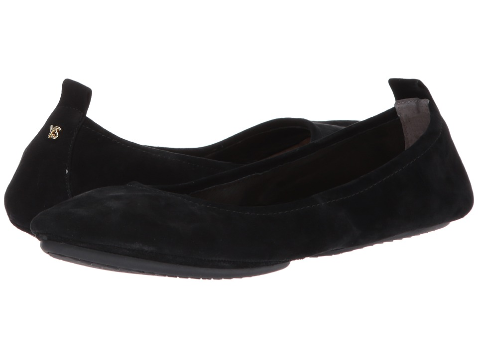 Yosi Samra Vienna 2 Flat (Black Kid Suede) Women's Shoes