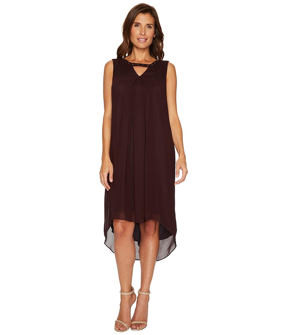 NIC+ZOE Keyhole Float Dress (Black Dahlia) Women