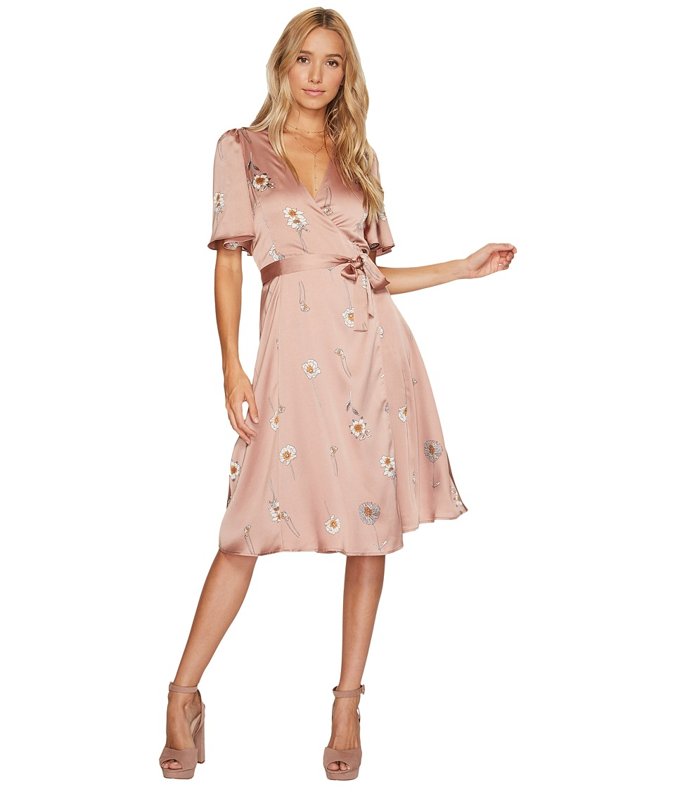 ASTR the Label Fiona Dress (Soft Pink Floral) Women