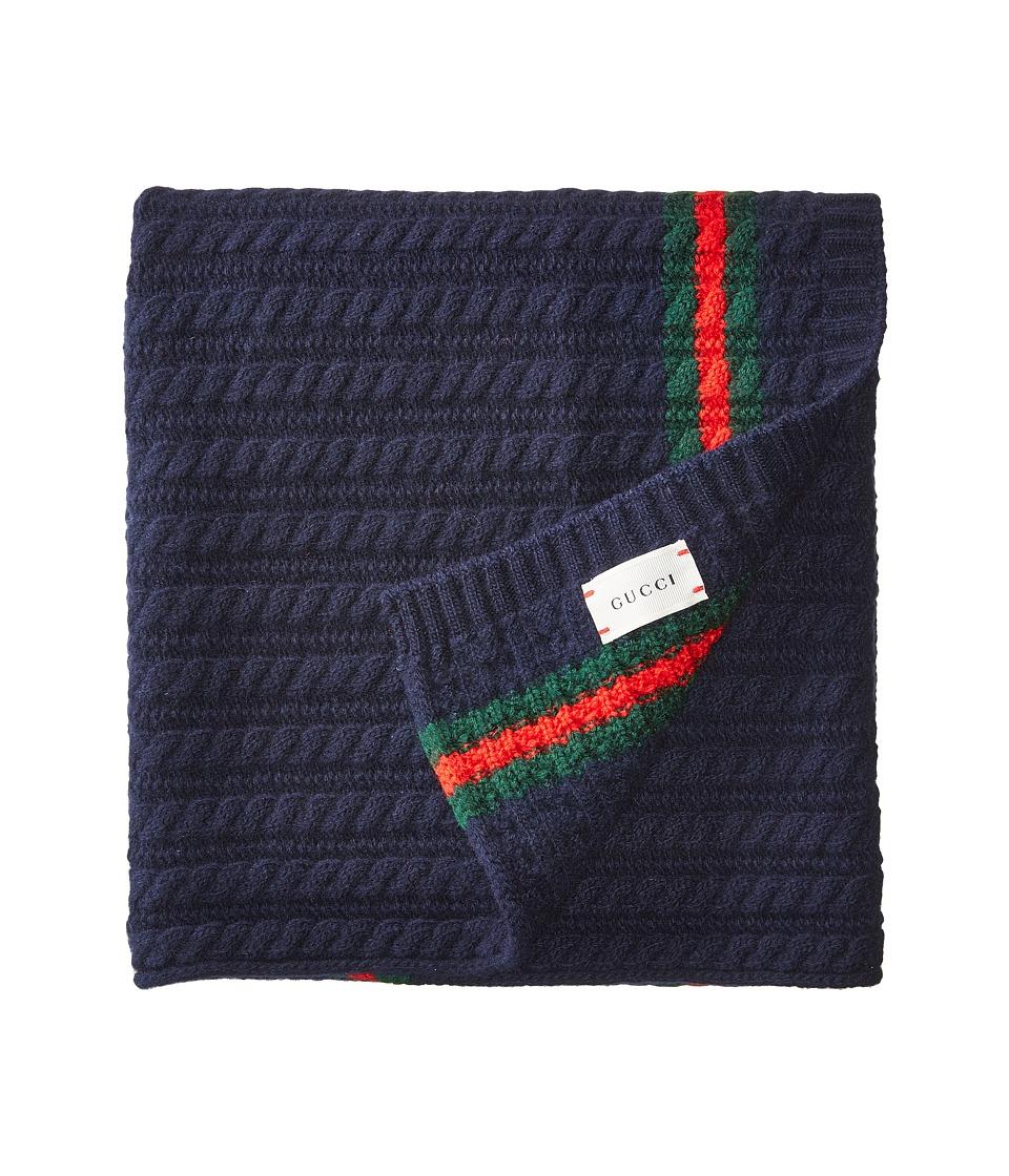 Gucci Kids - Blanket 4735783K206 (Midnight Blue/Dark Green) Blankets