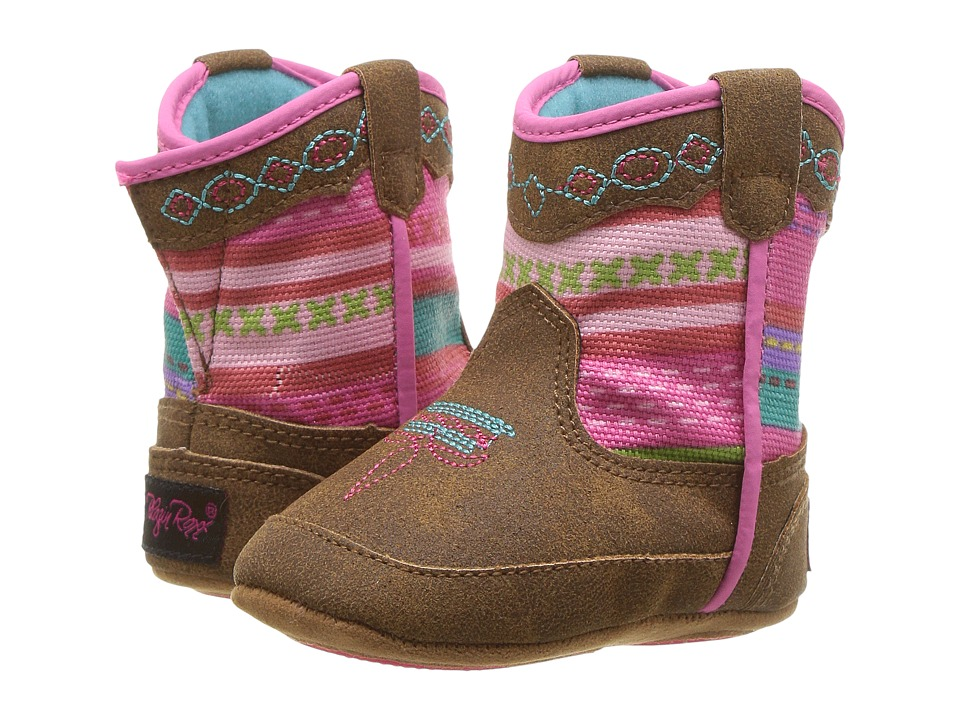 Blazin Roxx Camilla Bucker (Infant/Toddler) (Medium Brown Distressed) Girls Shoes