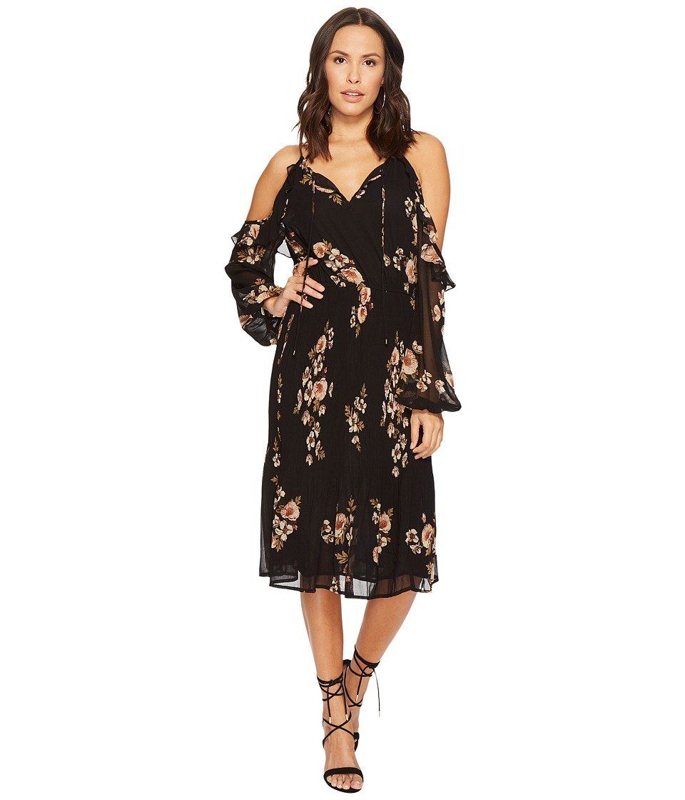 ASTR the Label - Persephone Dress (Black Floral Pink) Womens Dress