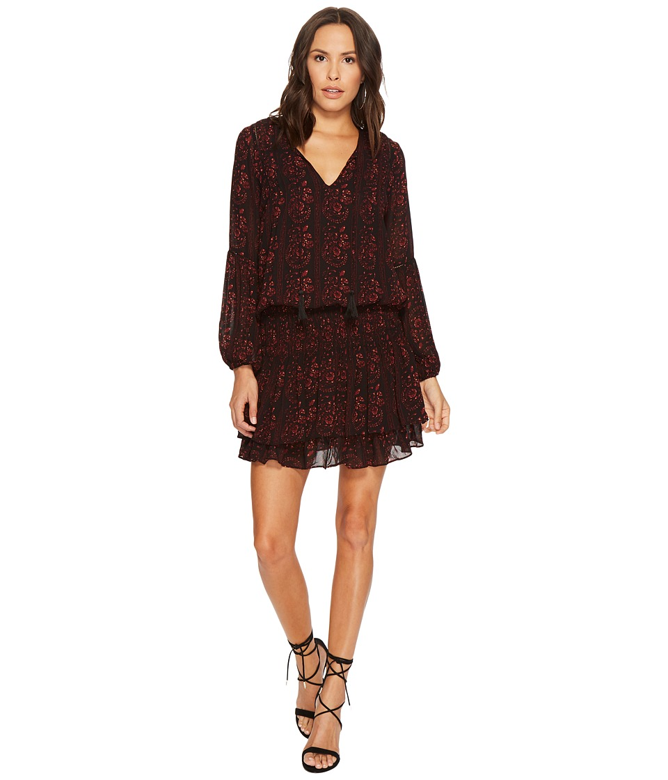 ASTR the Label Stella Dress (Black Wine Floral) Women
