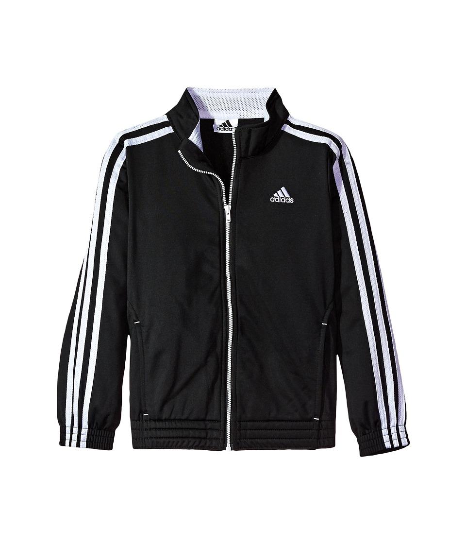 adidas Kids Warm Up Tricot Jacket (Big Kids) (Black) Girl