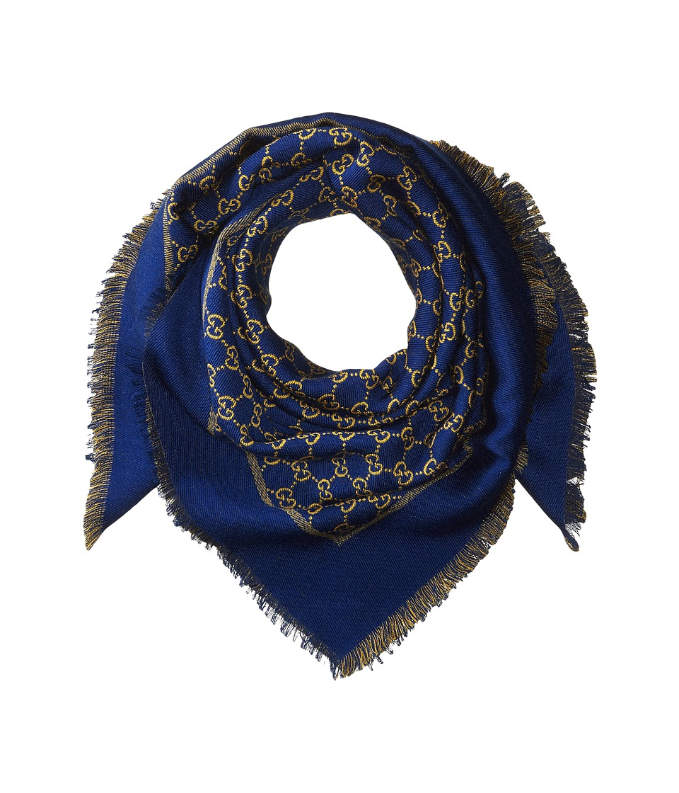 Gucci Kids - Scarf 4820714K700 (Navy/Yellow) Scarves