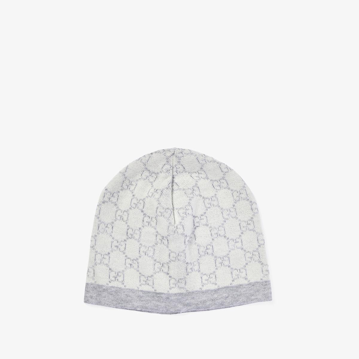 Gucci Kids - Hat 4185993K206 (Infant/Toddler) (Ivory/Light Grey) Caps
