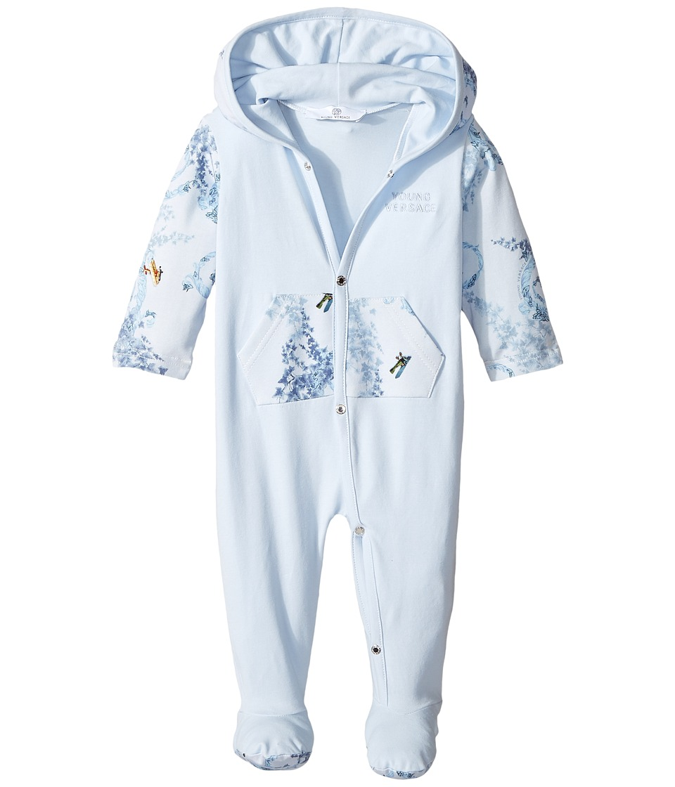Versace Kids - Long Sleeve Footie w/ Hood Barocco Detail