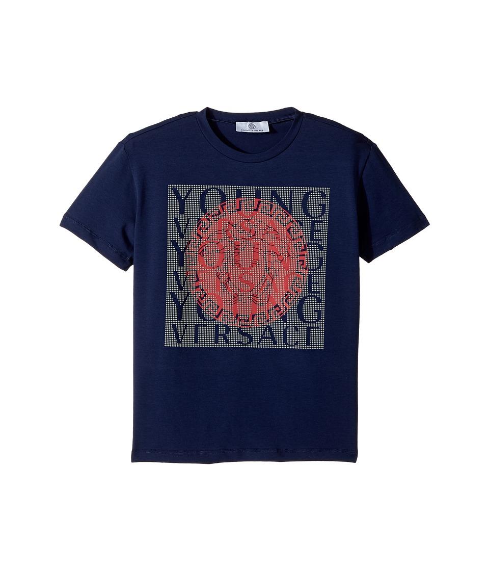 Versace Kids - Short Sleeve T-Shirt w/ Medusa Logo Design On Front