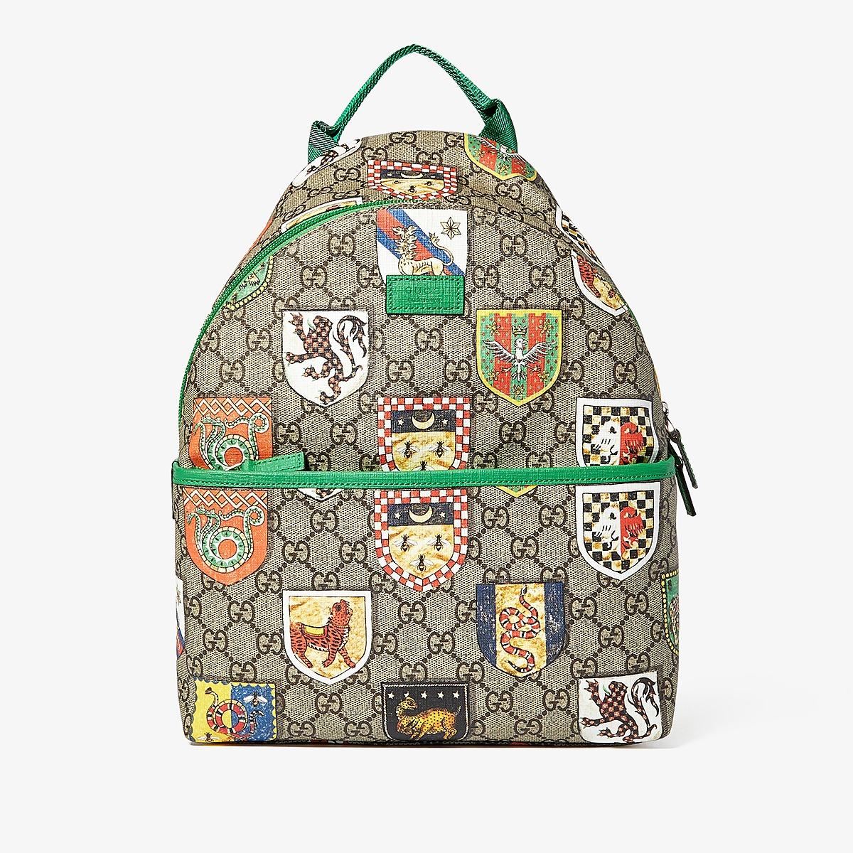 Gucci Kids - Backpack 2713279CX5N (Little Kids/Big Kids) (Brown/Green) Backpack Bags