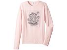 Versace Kids Long Sleeve T-Shirt w/ Medusa Rose Design On Front (Big Kids)