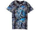 Versace Kids Short Sleeve Barocco Circuit Graphic T-Shirt (Big Kids)