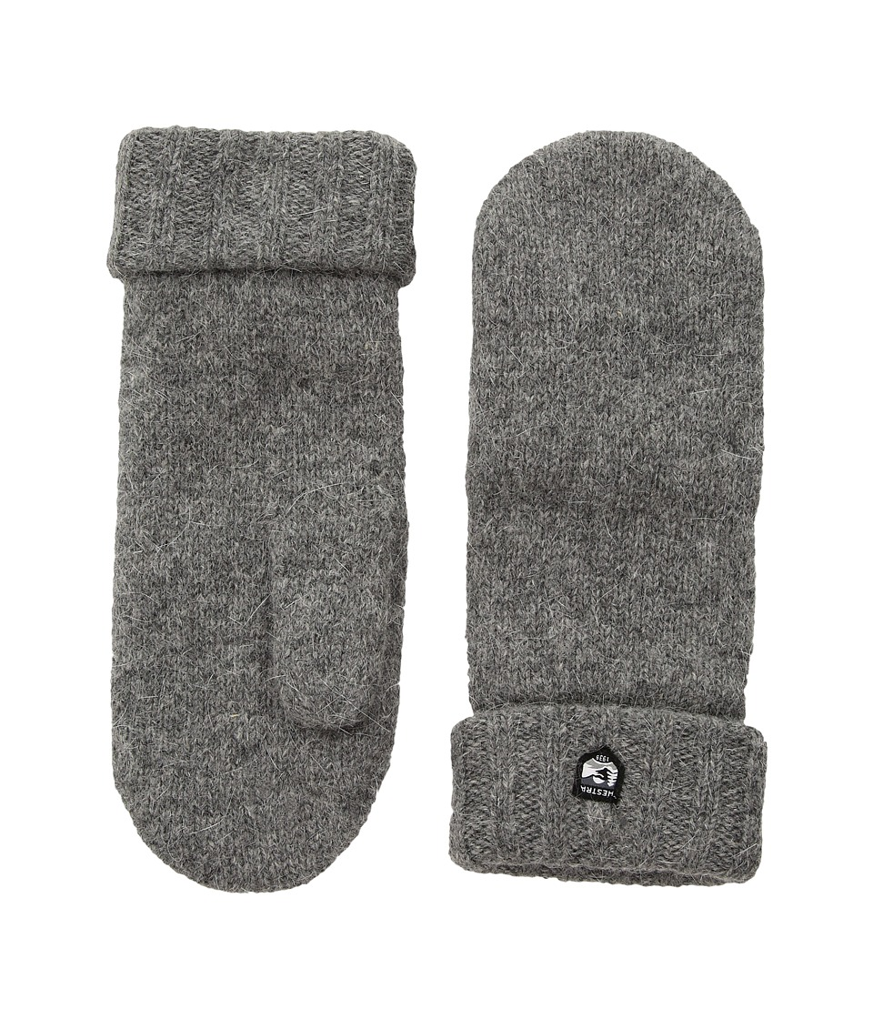 Hestra Bonny Knit Mitten (Grey) Dress Gloves