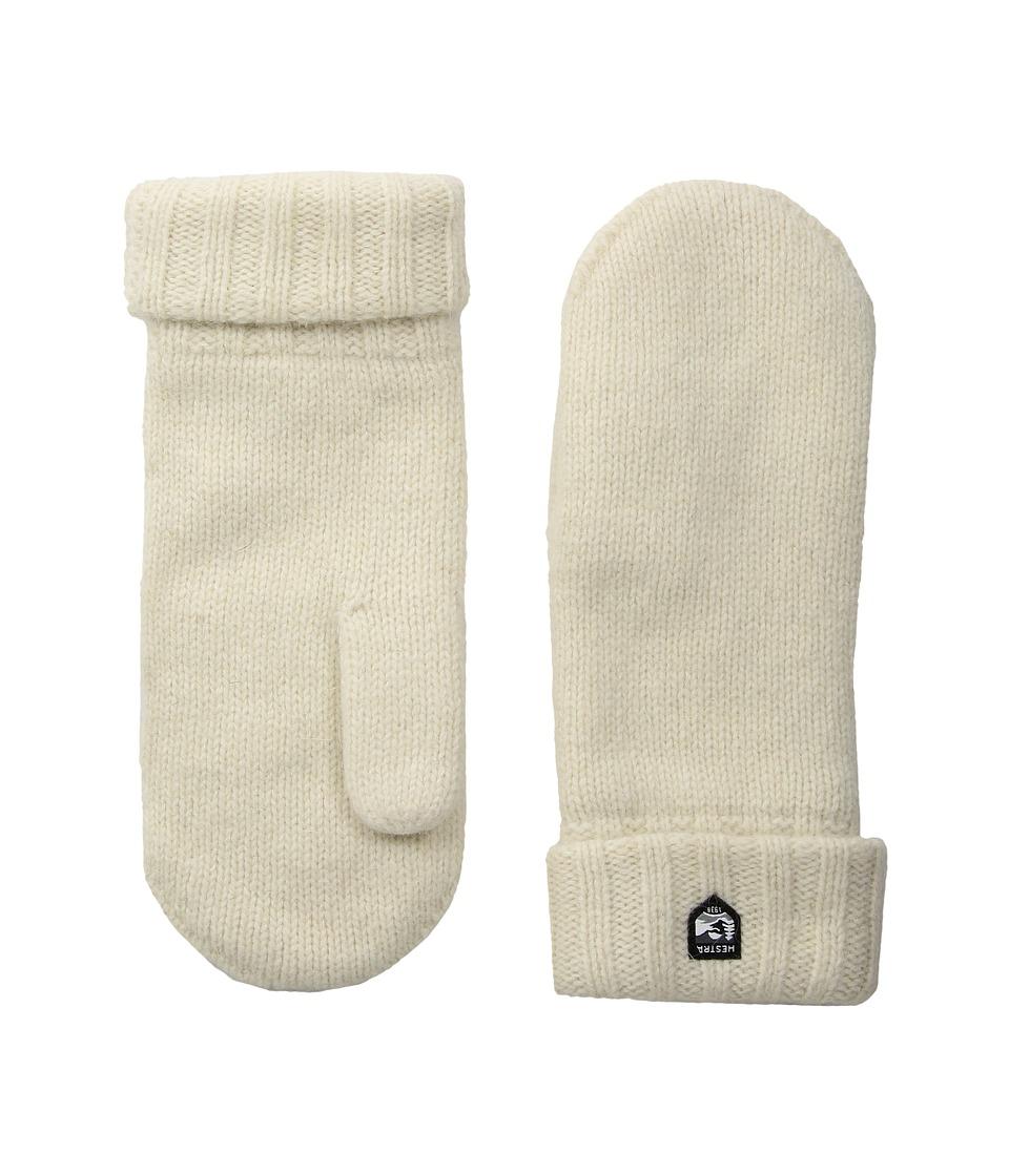 Hestra Bonny Knit Mitten (Off-White) Dress Gloves