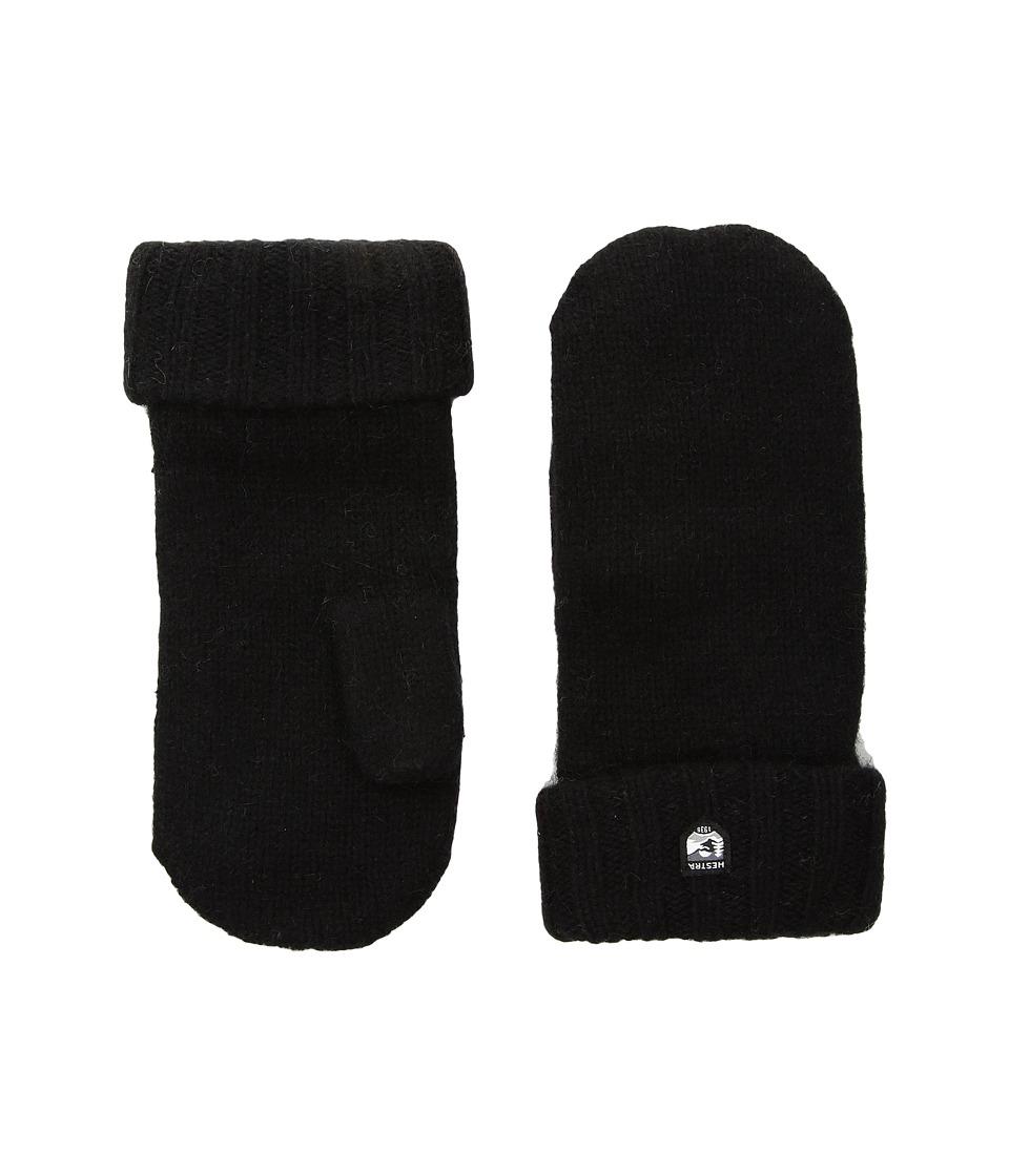 Hestra Bonny Knit Mitten (Black) Dress Gloves