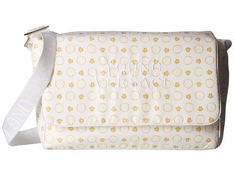 Versace Kids Medusa Logo Diaper Bag - White/Gold