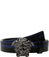 Versace Kids - Medusa Buckle Belt w/ Stripe (Big Kids)