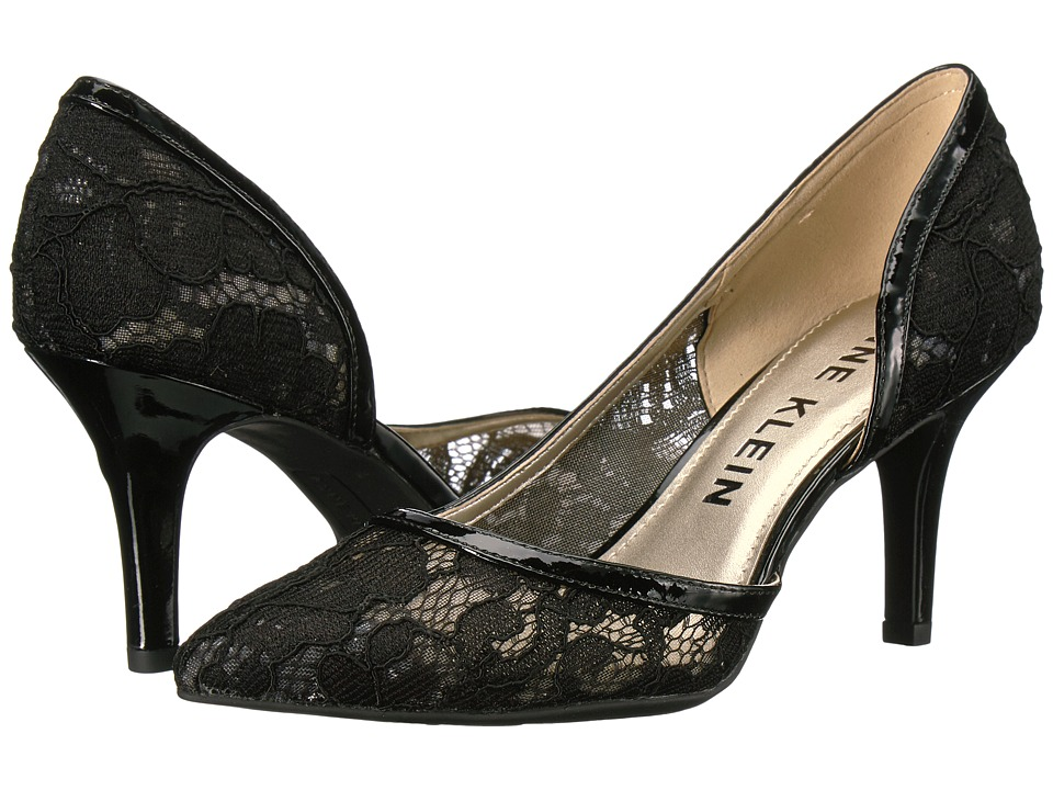 Anne Klein - Yanci (Black Lace Fabric) Womens Shoes
