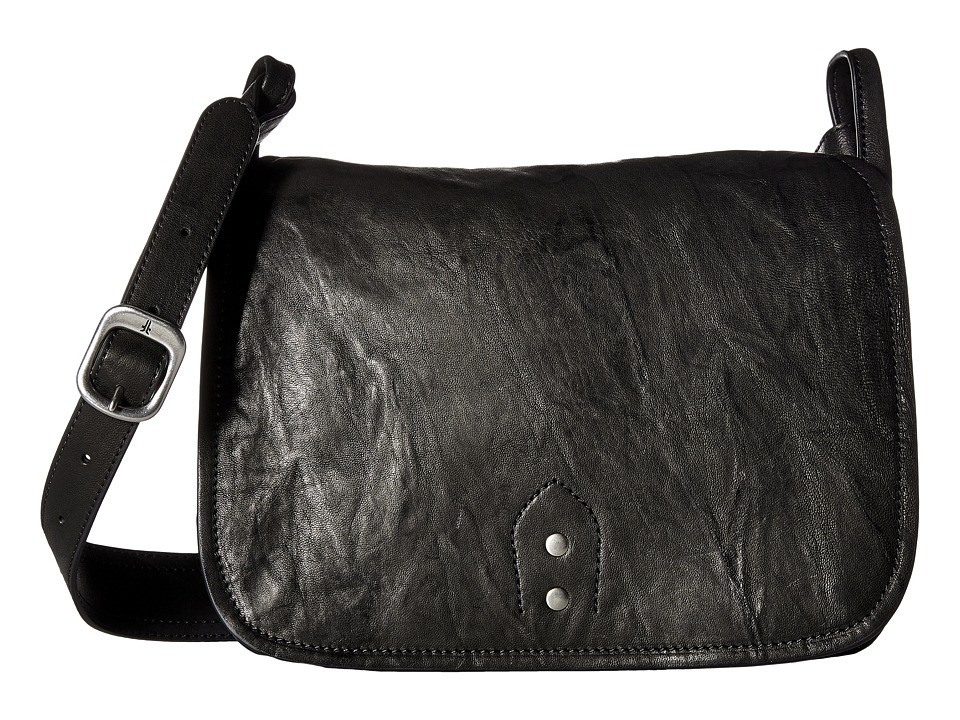 Frye - Veronica Buckle Messenger (Black Antique Soft Vintage) Messenger Bags